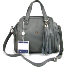 Bruno Rossi Hand bag -  BRUNO ROSSI Italian Shoulder Bag Handbag Purse in Gray Leather
