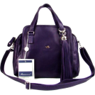Bruno Rossi Hand bag -  BRUNO ROSSI Italian Shoulder Bag Handbag Purse in Purple Leather