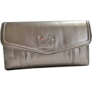 COACH Wallets -  Coach Gunmetal Leather Madison Checkbook & Wallet Case 44378