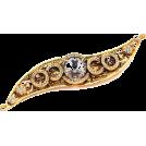 Dolce & Gabbana Jewelry -  Dolce & Gabbana vintage gold metal crystal flower pin brooch