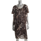 Jones New York Dresses -  Jones New York Collection Sorrento Brown Versatile Dress BHFO Sale 4