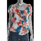 Karen Kane Top -  Karen Kane Knit Top Printed BHFO Ruffled Misses Shirt XS
