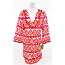 kate spade NEW YORK Tunic -  Kate Spade Pink Lychee Lindsay Beach 3/4 Sleeves Tunic