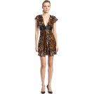 Sky Dresses -  Sky Womens Onafre Silk Printed Mini Dress