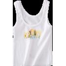 FECLOTHING Vests -  Angel Print Slim Vest