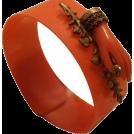 sandra  Narukvice -  Art Deco Coral Bakelite Bracelet