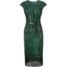sandra  Vestiti -  Art deco style green dress