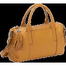 B. MAKOWSKY Bag -  B. Makowsky Charisse Folded Edge Satchel (Caramel)