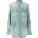 carola-corana Long sleeves shirts -  BALMAIN distressed denim shirt