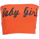 FECLOTHING Vests -  Babygirl printing wild Tube Top