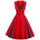 Babyonlinedress Dresses -  Babyonline Women Vintage 1950s Polka Dot Party Cocktail Dresses