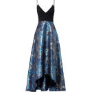 sandra  Dresses -  Badgley Mischka Blue Floral Gown