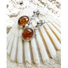 Sabaheta Naušnice -  Baltics amber earrings, amber jewelry, s