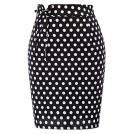 Belle Poque Skirts -  Belle Poque Retro Polka Dots Lacing High Waist Slim Fit Pencil Skirt BP733