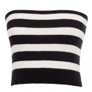 Belle Poque Shirts -  Belle Poque Women's Sexy Strapless Striped Off-Shoulder Bandeau Tube Crop Tops