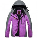 Bifast Outerwear -  Bifast Women Casual Patchwork Mountain Waterproof Ski Jacket Hooded Windproof Coat Climbing Jackets