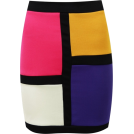 Sugerdiva Skirts -  Women Bodycon Panel Skirt