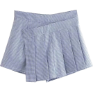 FECLOTHING Skirts -  Blue and White Pleated Houndstooth Skirt