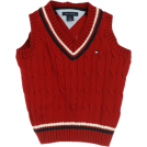 Tommy Hilfiger Vests -  Boy's Tommy Hilfiger Cable Sweater Vest Red