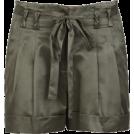 Briana Hernandez Shorts -  Belted satin shorts