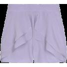 Briana Hernandez Shorts -  Crepe de Chine ruffled shorts
