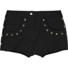 Briana Hernandez Shorts -  Eyelet-detailed cotton-jersey