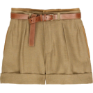 Briana Hernandez Shorts -  High-waisted linen shorts