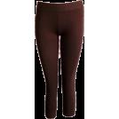 FineBrandShop Leggings -  Brown Capri Leggings Three Quarter Length
