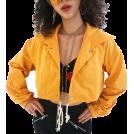 FECLOTHING Jacket - coats -  Button Lace Loose Loose Umbrella Jacket