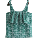 FECLOTHING Shirts -  Cake layer green printed camisole