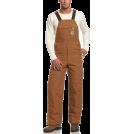 Carhartt Grembiule -  Carhartt Men's Quilt Lined Duck Zip-To-Thigh Bib Overall Brown