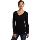 Carhartt Long sleeves t-shirts -  Carhartt Women's Lightweight Long Sleeve V-Neck Tshirt, Heather Gray, X-Large Black