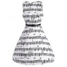 CharMma Dresses -  CharMma Women's Vintage 1950 Audrey Hepburn Music Note Print Swing Party Dress