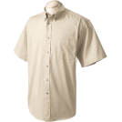 Chestnut Hill T-shirts -  Chestnut Hill 32 Singles Sort Sleeve Twill Shirt. CH505 Stone