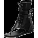 scarlett ✧☆・゚:☆✧ Čizme -  Chic Buckle-Loop Open Toe Ankle Boots