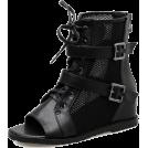 scarlett ✧☆・゚:☆✧ Čizme -  Chic open toe gauze cozy boots