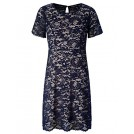 Chicwe Dresses -  Chicwe Women's Plus Size Scalloped Lace Flared Dress - Casual Dress with Keyhole