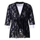 Chicwe Outerwear -  Chicwe Women's Plus Size Stretch Floral Lace Bohemian Cover up