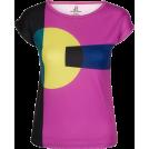 PINaR ERIS T-shirts -  Chunky Geometric Print Fitted Tee