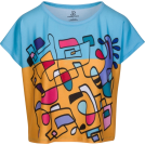 asia12 T-shirts -  Colorful Abstract Hand Drawn Print Boxy
