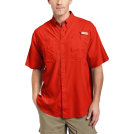 Columbia Shirts -  Columbia Men's Tamiami II Short Sleeve Shirt Autumn OrangeSize: