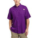 Columbia Shirts -  Columbia Men's Tamiami II Short Sleeve Shirt Iris GlowSize: