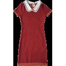 FECLOTHING Dresses -  Contrast lapels short sleeve knit dress