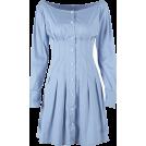 FECLOTHING Dresses -  Court retro style high waist slim single