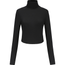 FECLOTHING Shirts -  Cross strap backless long sleeve knit t-
