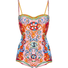 Jay Han Swimsuit -  D&G Printed Bustier One Piece Swimsuit