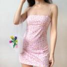 FECLOTHING Dresses -  Daisy Print Flat Straight Sling Dress