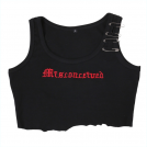 FECLOTHING Tanks -  Dark irregular edge hole pin embroidery