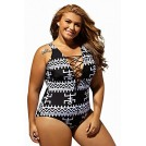 Amazon.com Costume da bagno -  Dearlove Women's Sexy Lace Up V Neck One Piece Swimsuit Swimwear Plus Size