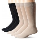 Dockers Altro -  Dockers Men's 5 Pack Classics Dress Flat Knit Crew Socks
